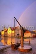 regenbogen zur goldenen stunde